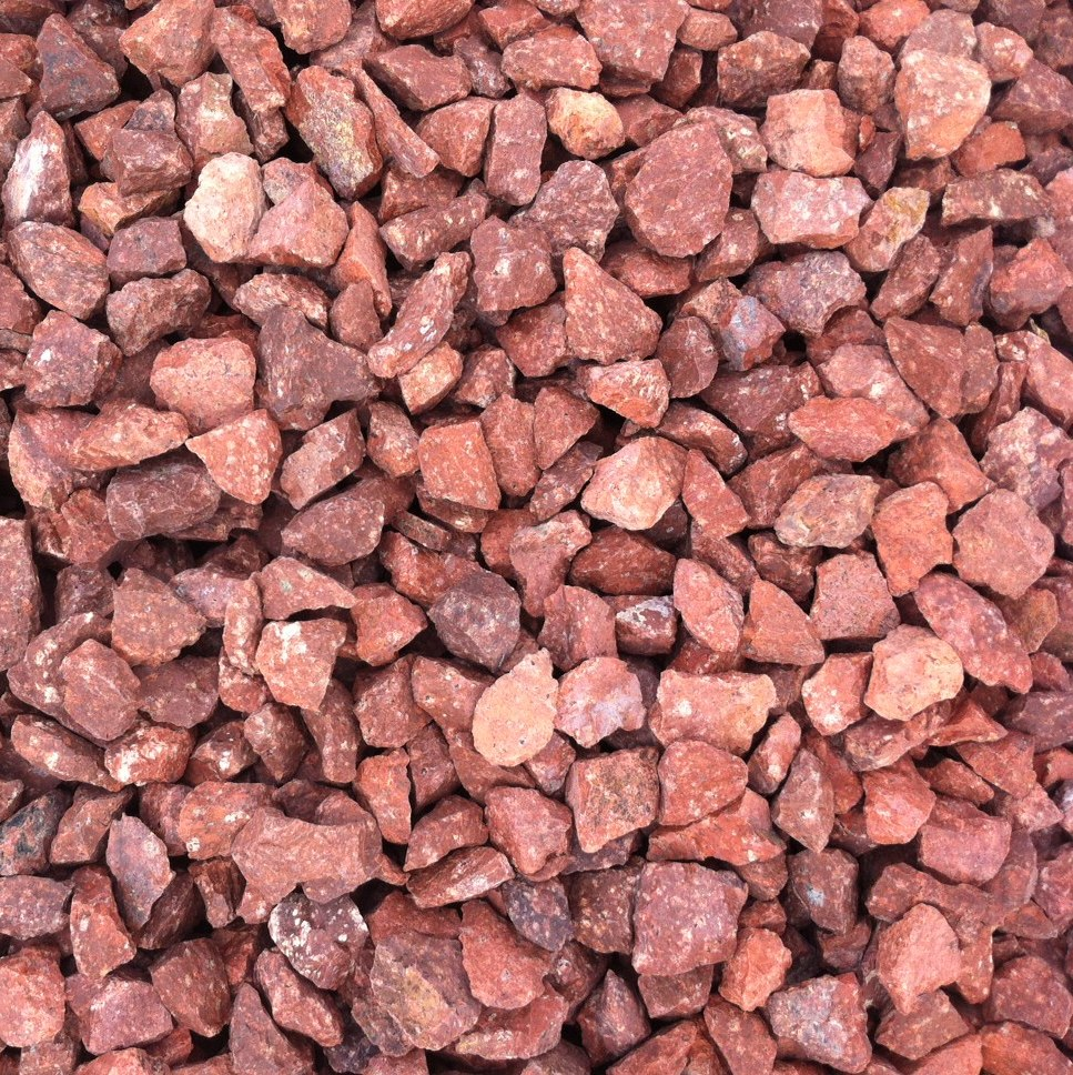 20mm red granite harden red lanark red cloburn red red for Red stone landscape rock