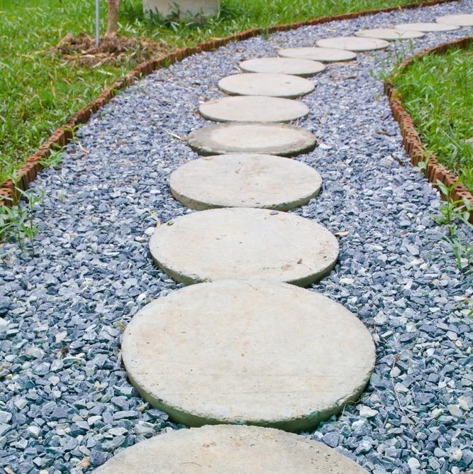 Garden Stone Chips Decorative gravels topsoils granites chippingspebbles blue slate around stepping stones resized workwithnaturefo