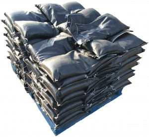 Black Pre-Filled UV Protected Sand Bags