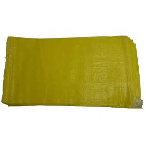 Empty Yellow UV Protected Sand Bags