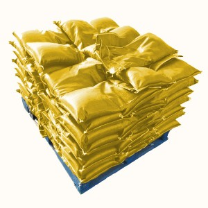 Sandbags Yellow Pre-Filled UV Protected 15kg