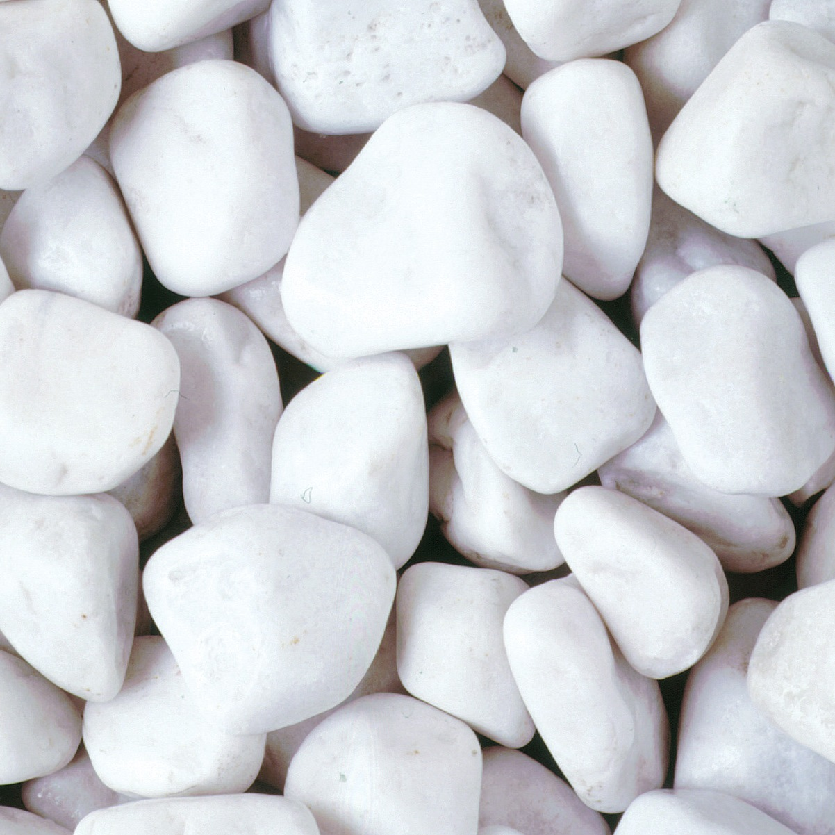 4090mm polar white cobbles bulk bag